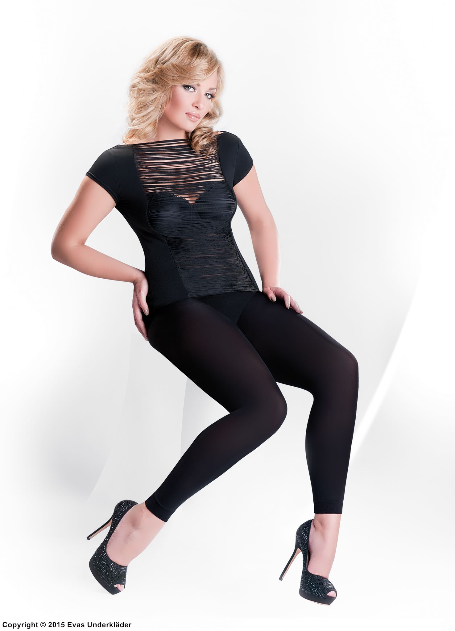 Leggings i microfiber, plus size